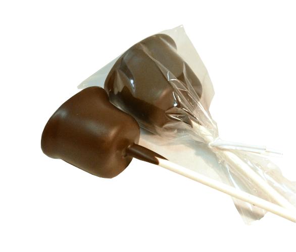 Chocolate Dipped Marshmallow Stick