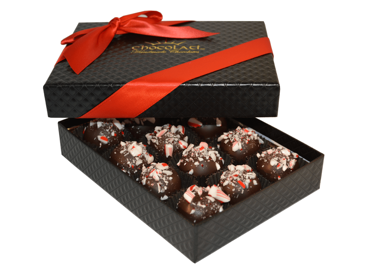 12pc. Candy Cane Truffle Gift Box