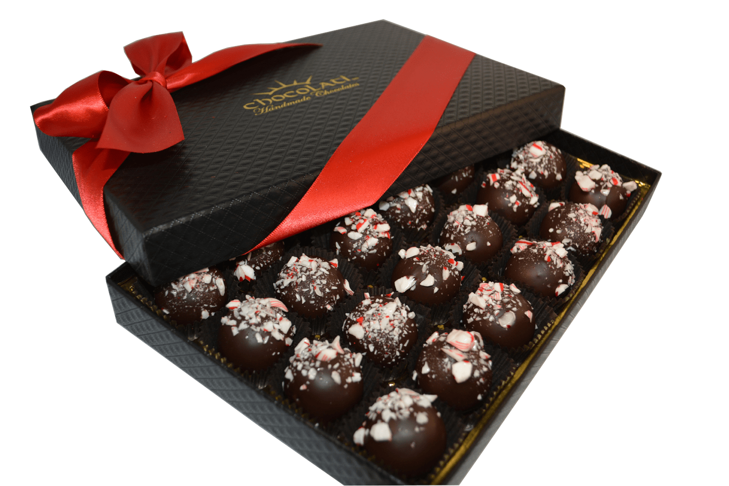 24pc. Candy Cane Truffle Gift Box