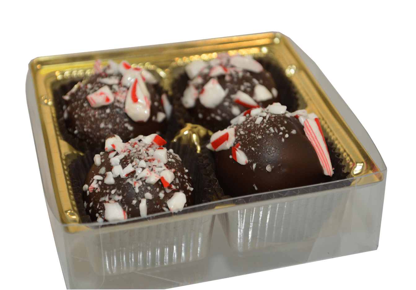 4pc. Candy Cane Truffle Gift Box